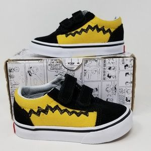 Vans X Peanuts Old Skool V Toddlers size 5.5